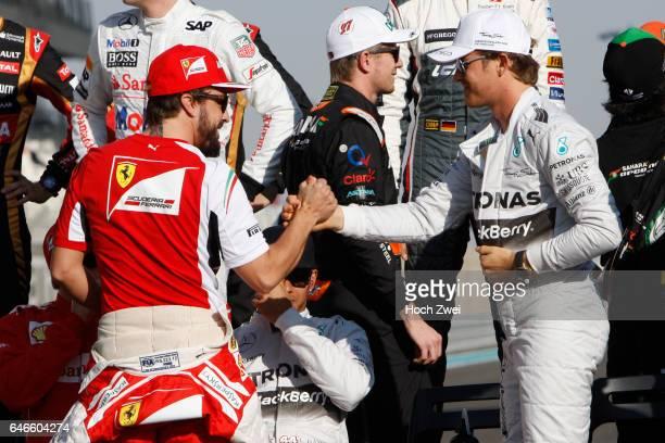 FIA Formula One World Championship 2014 Grand Prix of Abu Dhabi #14 Fernando Alonso #6 Nico Rosberg
