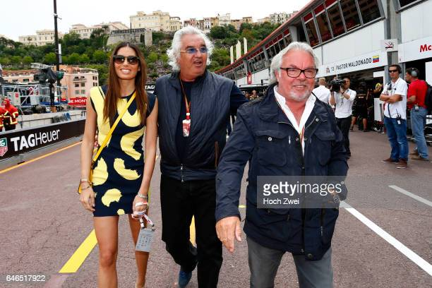 FIA Formula One World Championship 2014 Grand Prix of Monaco Flavio Briatore and his wife Elisabetta Gregoraci Keke Rosberg