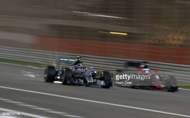 FIA Formula One World Championship 2015 Grand Prix of Bahrain #6 Nico Rosberg #14 Fernando Alonso