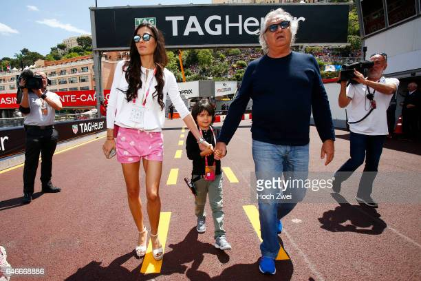 FIA Formula One World Championship 2015 Grand Prix of Monaco Flavio Briatore with wife Elisabetta Gregoraci and their son