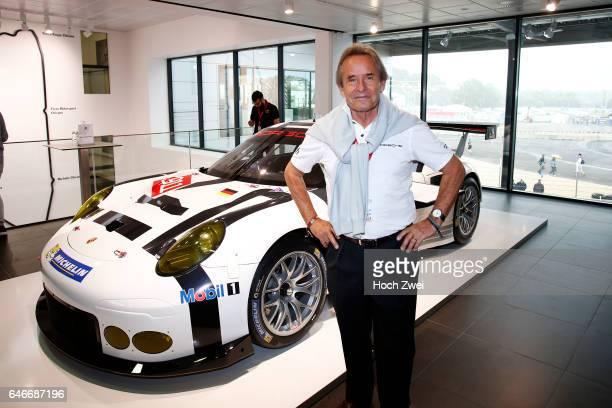 FIA WEC 2015 24 Heures du Mans PorschePressekonferenz 24StundenRennen von Le Mans Jacky Ickx