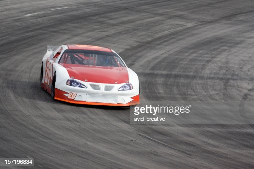 Motorsports-Red and White Race Car