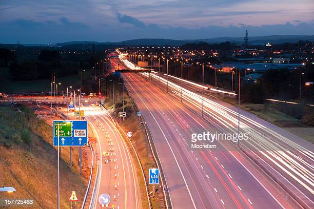 M5 motorway at Exeter in Devon, UK