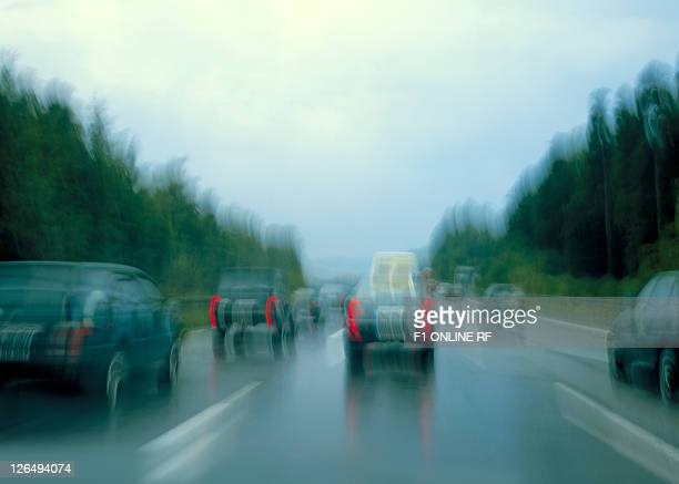 Motorway, bad weather