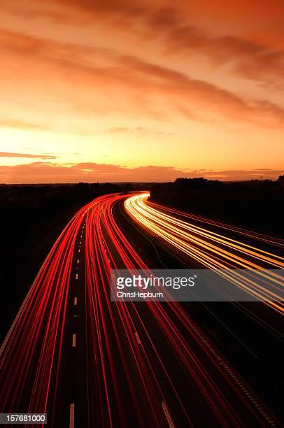 Motorway の夕日