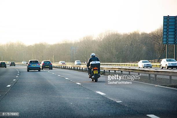 motorway traffic near the Severn Bridge