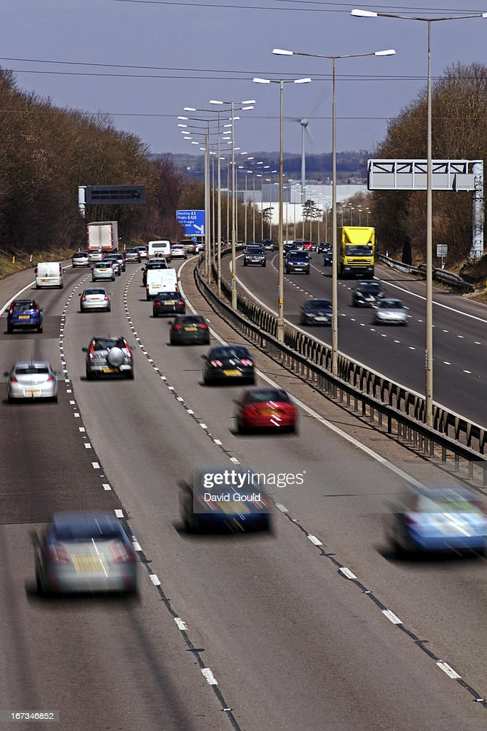 M1 motorway traffic