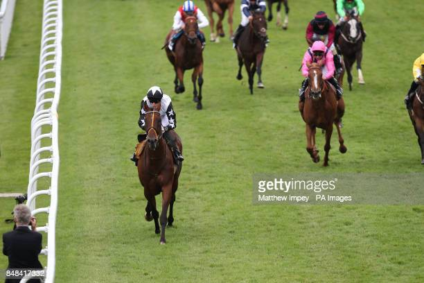Motovido ridden by Luke Morris wins the Toyo Tires Performance Stakes Handicap during Blue Square Stewards Cup Day of the Glorious Goodwood Festival...