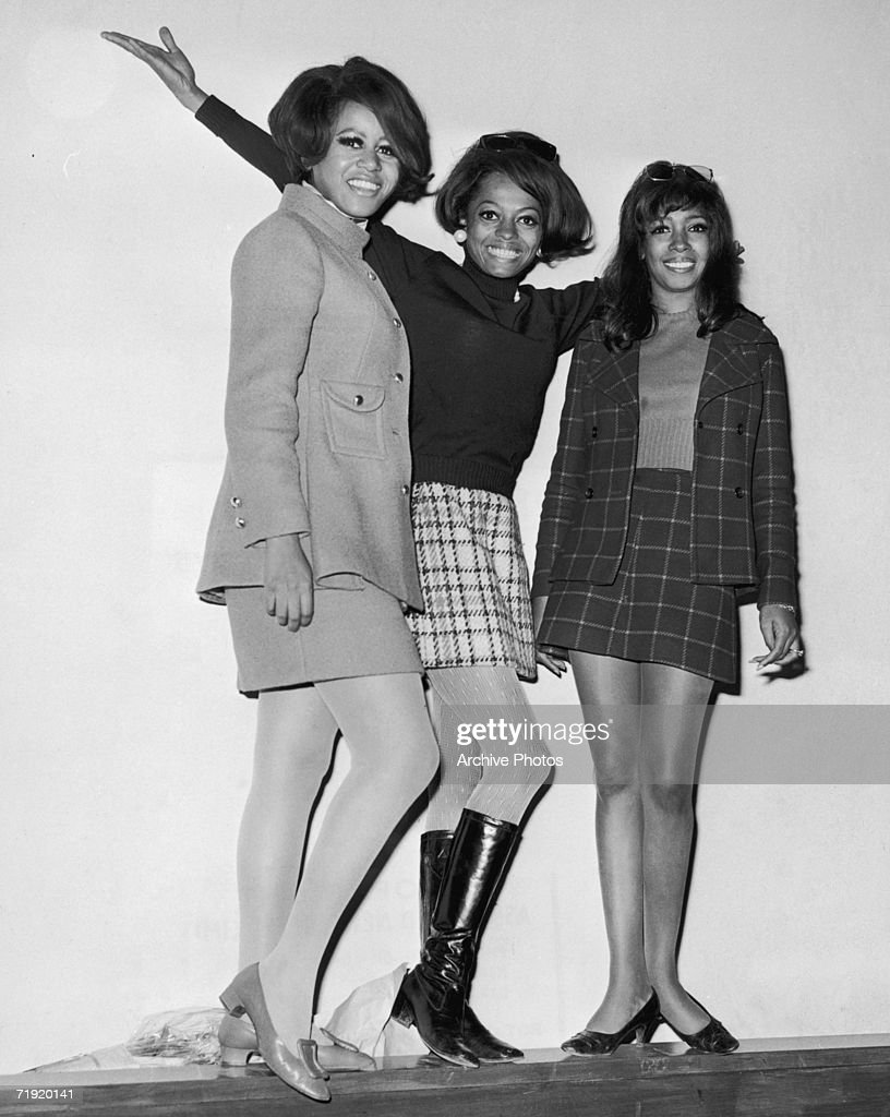 Motown girl group The Supremes early 1960s from left to right Florence Ballard Diana Ross and Mary Wilson
