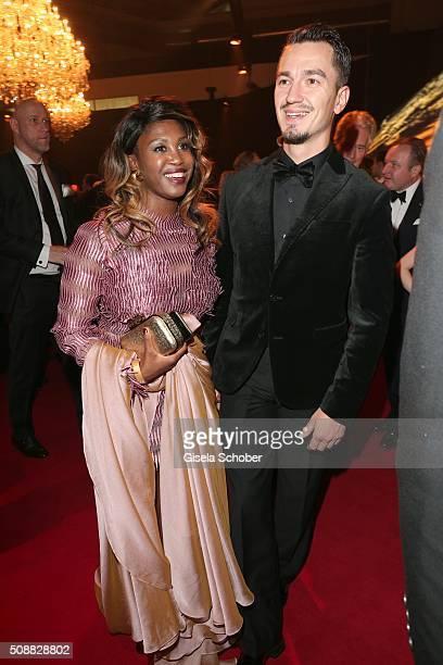 Motsi Mabuse and her boyfriend Evgenij Voznyuk during the Goldene Kamera 2016 reception on February 6 2016 in Hamburg Germany