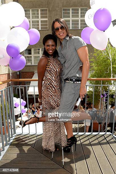 Motsi Mabuse and Jorge Gonzalez attend the Gala Fashion Brunch at Ellington Hotel on July 11 2014 in Berlin Germany