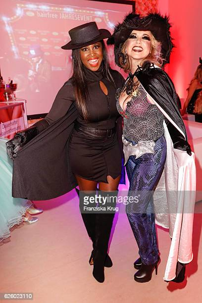 Motsi Mabuse and Tina Ruland attend the Hollywood Superhero Fairytale Night hosted by Jens Hilbert on November 26 2016 in Darmstadt Germany