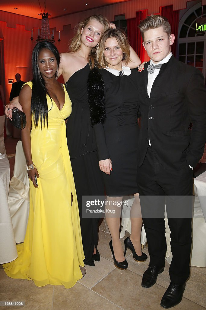 Motsi Mabuse; Toni Garrn, Kim Fisher and Max von der Groeben attend the Gala Spa Award 2013 at the Brenners Park Hotel on March 16, 2013 in Berlin, Germany.