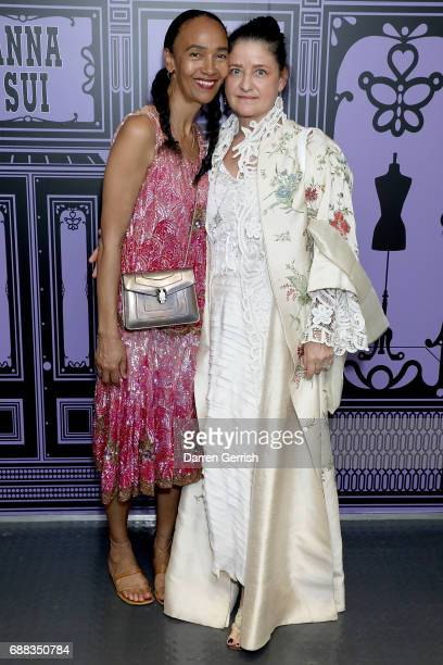 Mouchette Bell and Lyssa Horn attend the World of Anna Sui Exhibition Private View at the Fashion and Textile Museum on May 25 2017 in London England