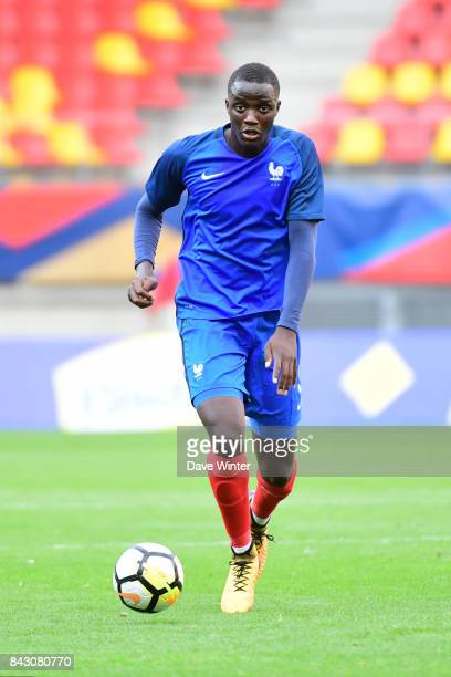 Mouctar Diakhaby of France during the Under 21s Euro 2019 qualifying match between France U21 and Kazakhstan U21 on September 5 2017 in Le Mans France