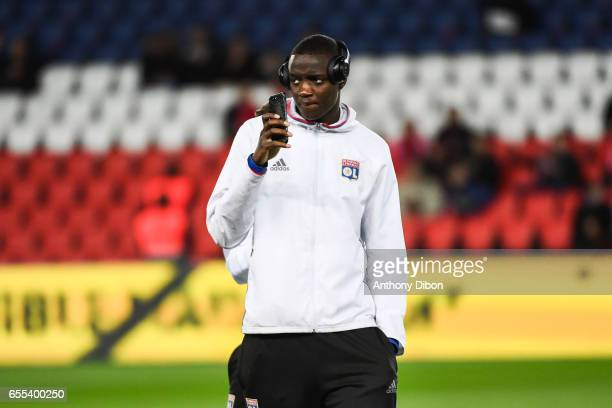 Mouctar Diakhaby of Lyon during the French Ligue 1 match between Paris Saint Germain and Lyon at Parc des Princes on March 19 2017 in Paris France