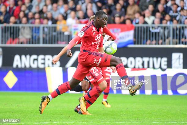 Mouctar Diakhaby of Lyon during the Ligue 1 match between Angers SCO and Olympique Lyonnais at Stade Raymond Kopa on October 1 2017 in Angers France