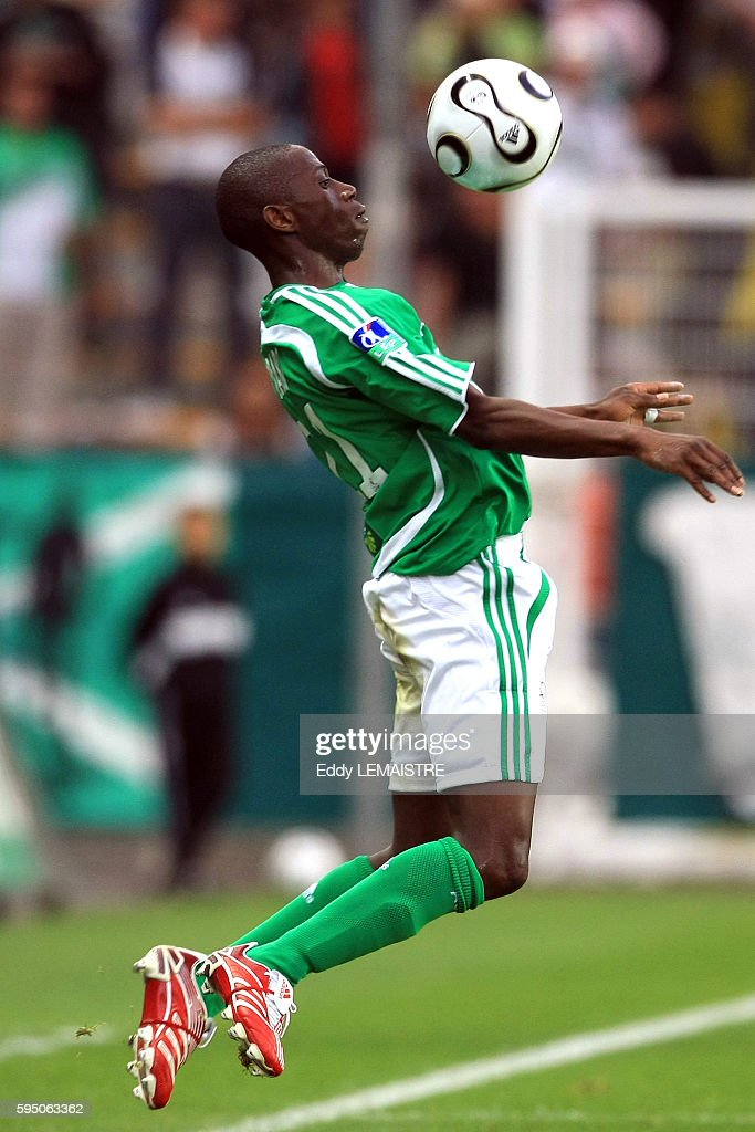 Mouhamadou Dabo during the French Ligue 1 soccer match between AS Saint Etienne and Girondins de Bordeaux | Location Saint Etienne France