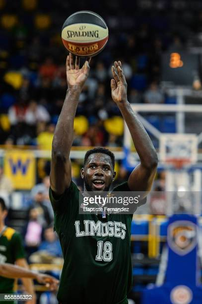 Mouhammadou Jaiteh of Limoges during the Pro A match between Levallois and Limoges on October 7 2017 in LevalloisPerret France