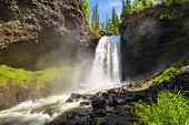 Moul Falls on Grouse Creek in Wells Gray Provincial Park in Canada