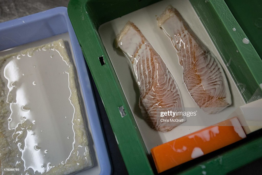 A mould is taken of real fish before food samples are made from it at the Iwasaki Co., LTD sample food factory on March 3, 2014 in Yokohama, Japan. Sample food products can be seen in the windows of many restaurants throughout Japan. The factory creates precision replica food plates moulded from real food supplied by the client. The Iwasaki Co., LTD facility is one of the largest suppliers in Japan, producing approximately 270,000 sample plates per year to over 20,000 food outlets across Japan and internationally.