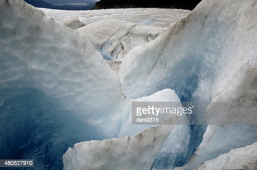 Moulin at Mendenhall Glacier, Juneau, Alaska : Stock Photo