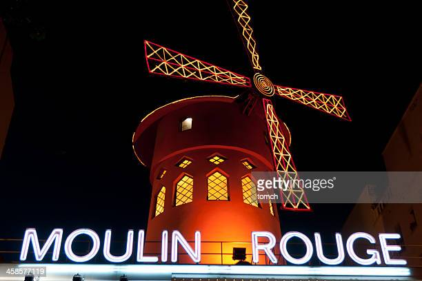 Moulin Rouge at evening.