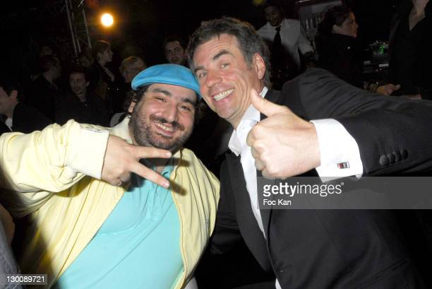 Mouloud and Bruno Gaccio during 2006 Cannes Film Festival Frederic Taddei's 'La Party' Hosted by Canal Plus at VIP Room Palm Beach in Cannes France