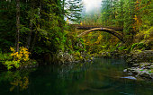 Moulton Falls trail is a beautiful hike along the Lewis river. It crosses a picturesque footbridge over the river.
