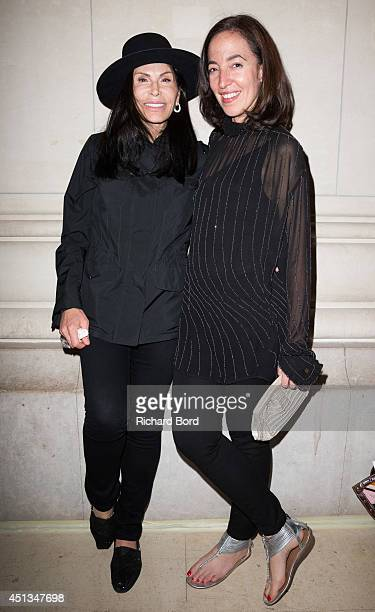 Mouna Ayoub and Chief Curator of Fashion and Textiles at Les Arts Decoratifs Pamela Golbin attend the Dries Van Noten Exhibition Party as part of the...