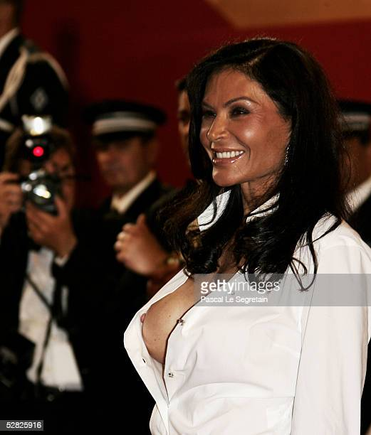 Mouna Ayoub attends a screening of 'Kiss Kiss Bang Bang' at the Grand Theatre during the 58th International Cannes Film Festival May 14 2005 in...