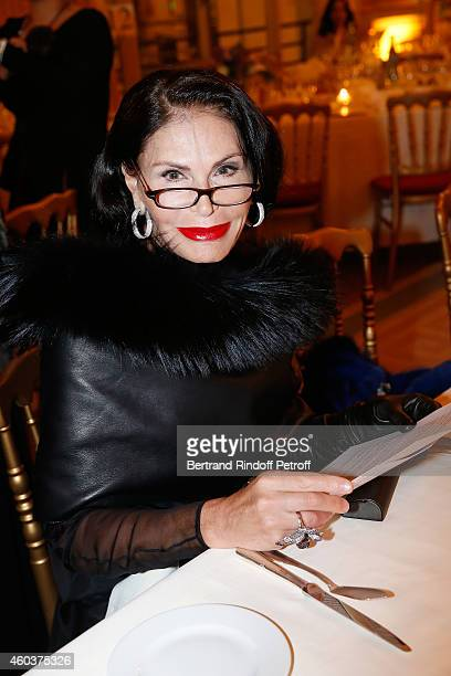 Mouna Ayoub attends The Children for Peace Gala at Cercle Interallie on December 12 2014 in Paris France