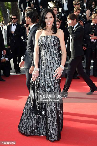 Mouna Ayoub attends the Closing Ceremony and 'A Fistful of Dollars' Screening during the 67th Annual Cannes Film Festival on May 24 2014 in Cannes...