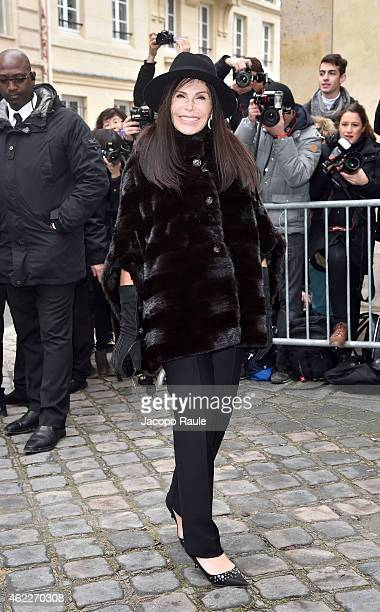 Mouna Ayoub attends the Dior show as part of Paris Fashion Week Haute Couture Spring/Summer 2015 on January 26 2015 in Paris France