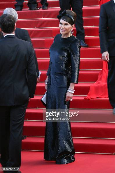 Mouna Ayoub attends the Premiere of 'Cleopatra' during the 66th Annual Cannes Film Festival at the Palais des Festivals on May 21 2013 in Cannes...