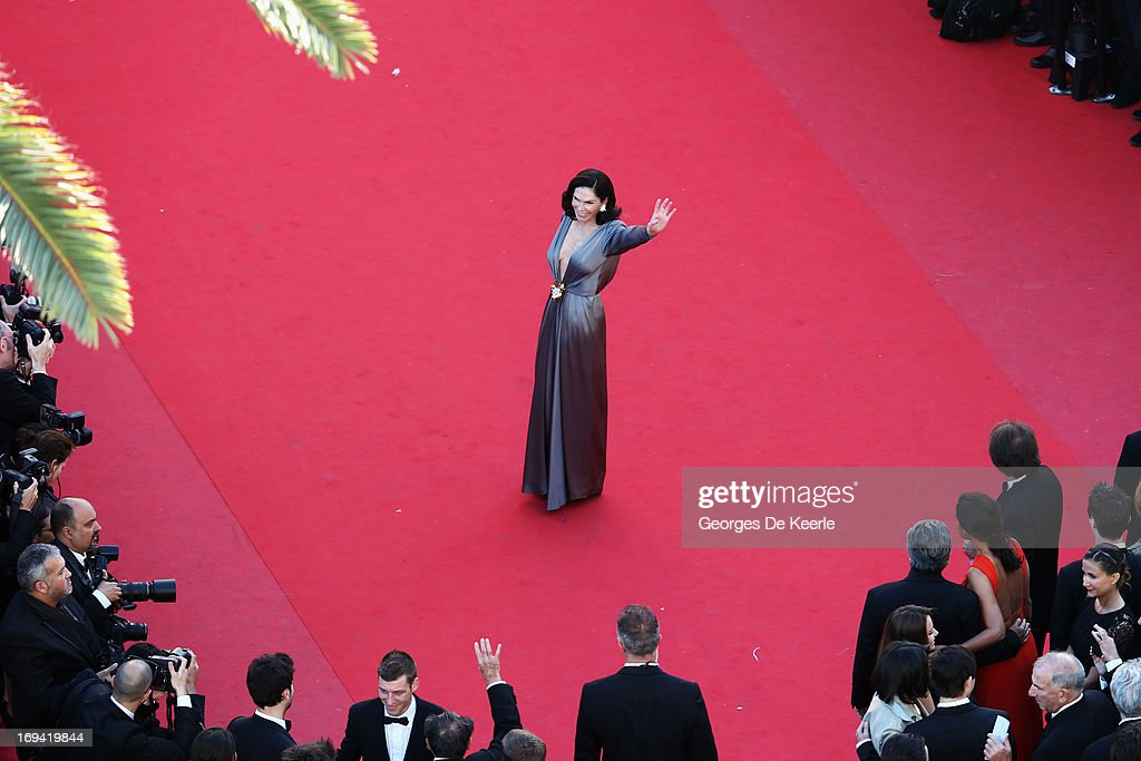 Mouna Ayoub attends the Premiere of 'The Immigrant' at The 66th Annual Cannes Film Festival at Palais des Festivals on May 24, 2013 in Cannes, France.