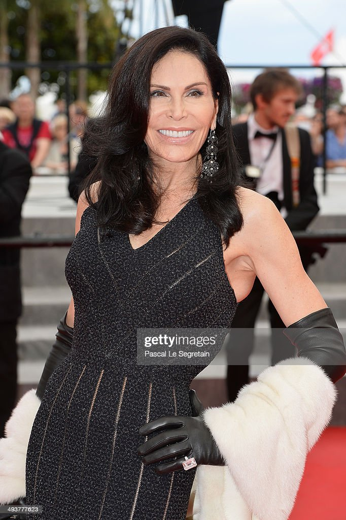 Mouna Ayoub attends the red carpet for the Palme D'Or winners at the 67th Annual Cannes Film Festival on May 25, 2014 in Cannes, France.