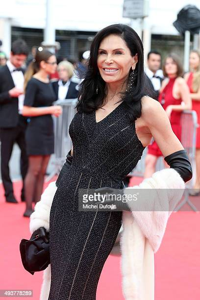 Mouna Ayoub attends the red carpet for the Palme D'Or winners at the 67th Annual Cannes Film Festival on May 25 2014 in Cannes France