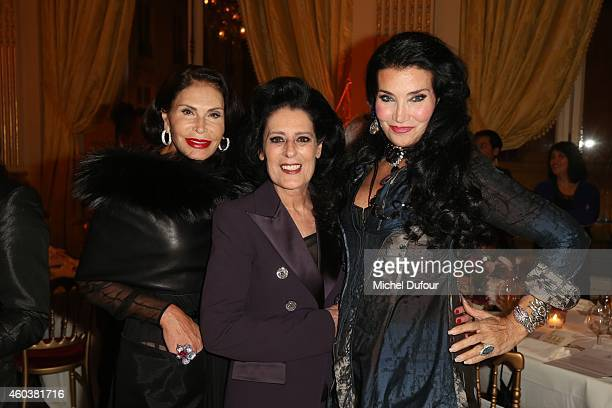 Mouna Ayoub Debra Macé and Lamia Khashoggi attend the Children For Peace Gala at Cercle Interallie on December 12 2014 in Paris France