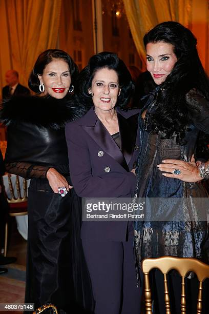 Mouna Ayoub Debra Mace and Lamia Khashoggi attend The Children for Peace Gala at Cercle Interallie on December 12 2014 in Paris France
