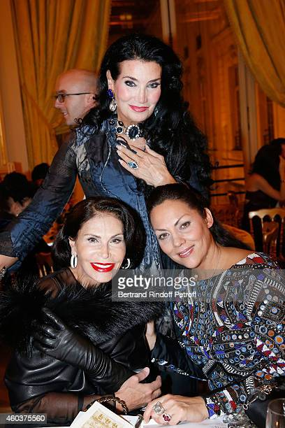 Mouna Ayoub Lamia Khashoggi and Princesse Hermine de Clermont Tonnerre attend The Children for Peace Gala at Cercle Interallie on December 12 2014 in...