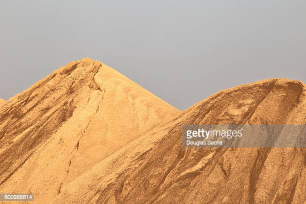 Mounds of sand at a open pit Quarry