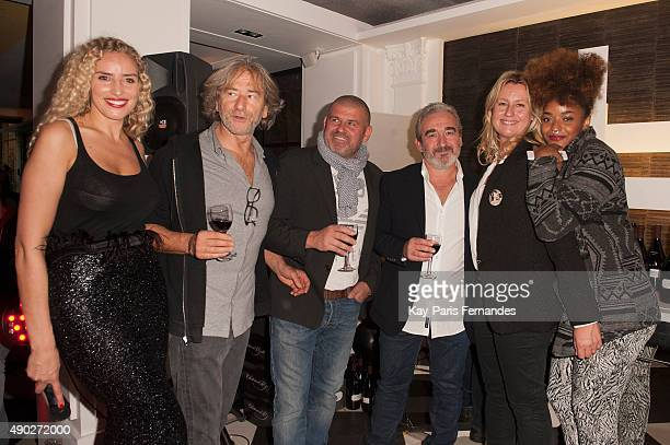 Mounia Briya guest Philippe Etchebest Didier Coly Luana Belmondo and guest attend 'Fromage Fashion Week Menu' on September 27 2015 in Paris France