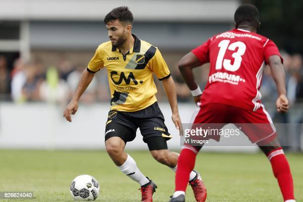 Mounir El Allouchi of NAC Breda Leeroy Owusu of Almere City before the UEFA Europa League final match between Ajax Amsterdam and Manchester United on...