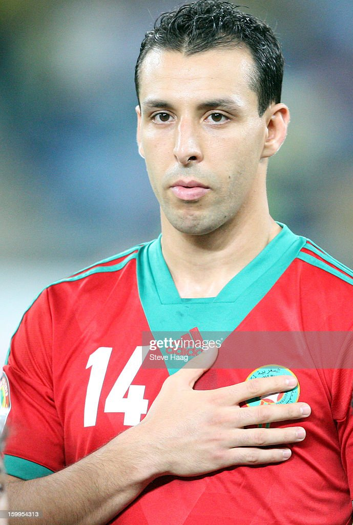 Mounir El Hamdaoui during the 2013 African Cup of Nations match between Morocco and Cape Verde at Moses Mahbida Stadium on January 23, 2013 in Durban, South Africa.