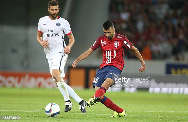Mounir Obbadi of Lille in action during the French Ligue 1 match between Lille OSC and Paris SaintGermain at Grand Stade Pierre Mauroy on August 7...