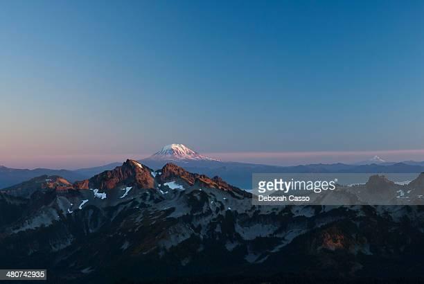 Mount Adams and Mount Hood from Mount Rainier.
