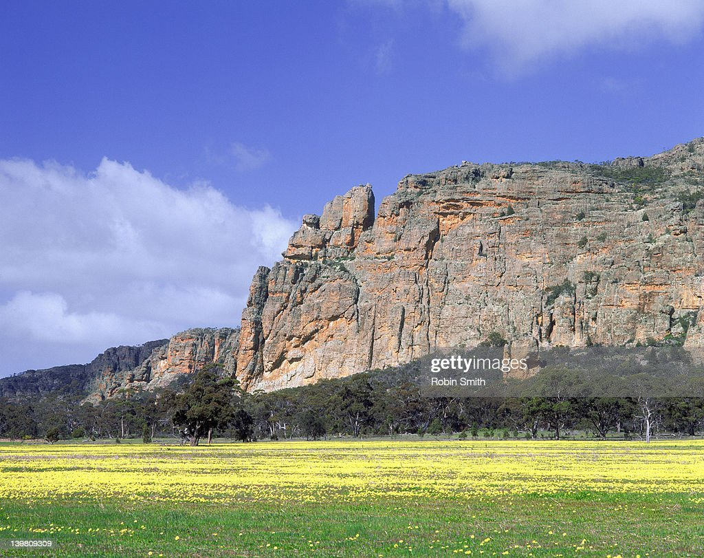 Mount Arapiles, northern rock face, Western District, Victoria
