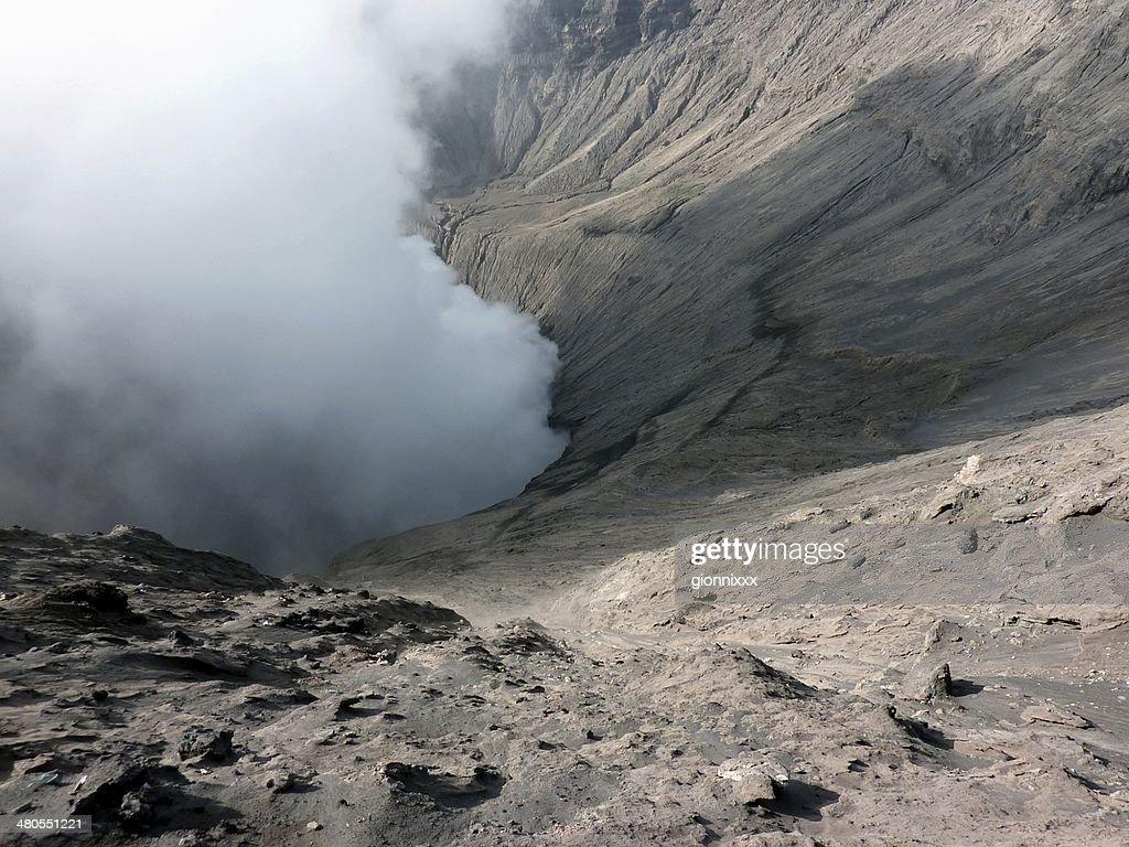 Monte Bromo, Vulcão da boca, Java Orientalindonesia.kgm : Foto de stock