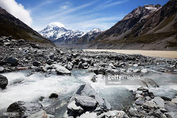 Mount Cook and Hooker Valley in New Zealand